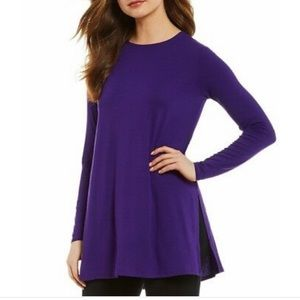 Eileen Fisher long sleeve tunic with side slit